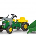 john deere loader and trailer