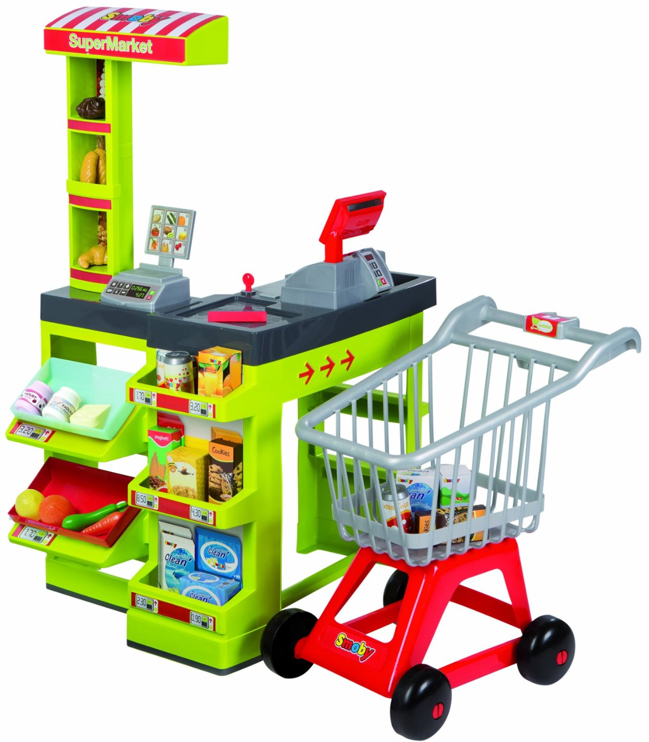 smoby supermarket checkout and trolley byrnes online. Black Bedroom Furniture Sets. Home Design Ideas