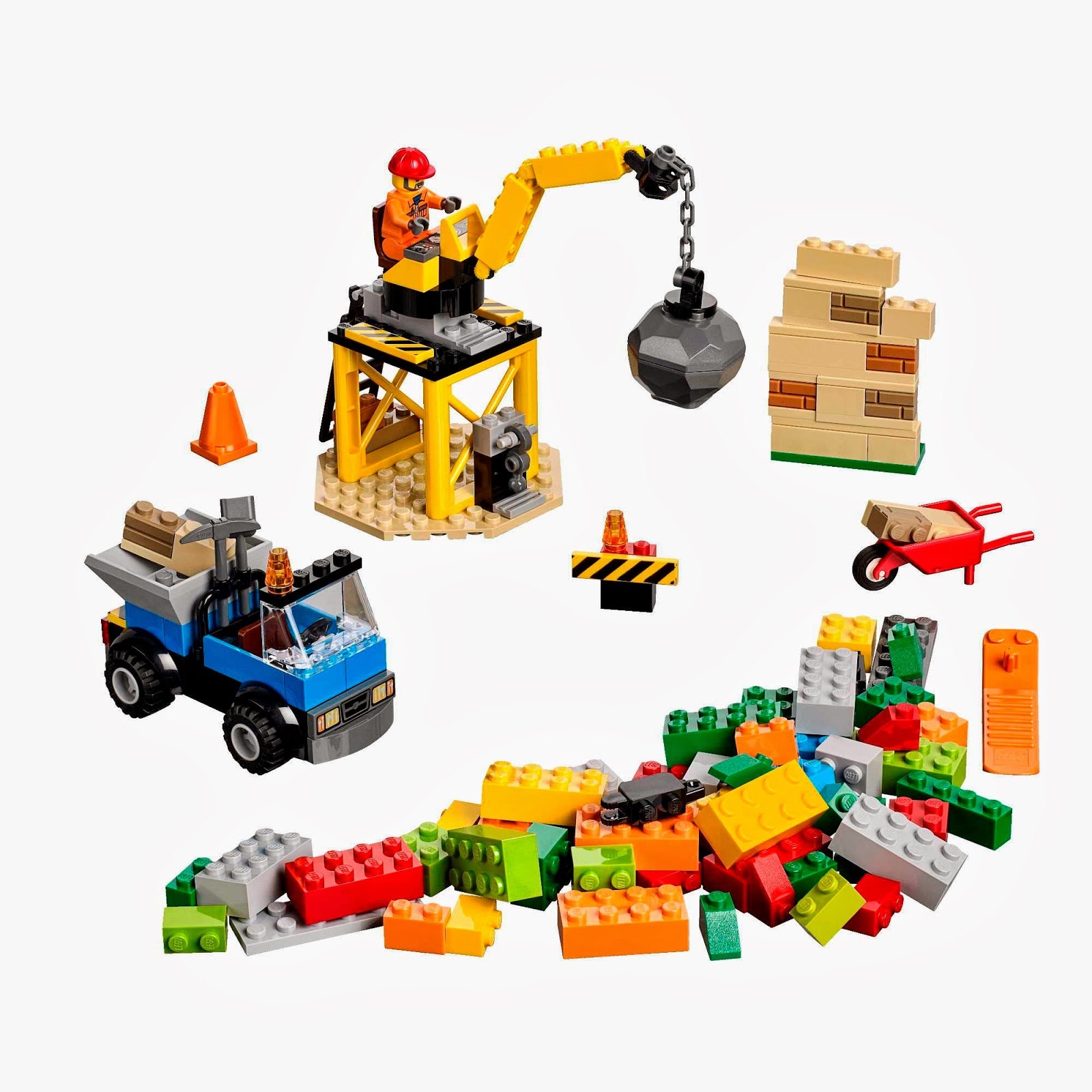 lego juniors construction site byrnes online. Black Bedroom Furniture Sets. Home Design Ideas