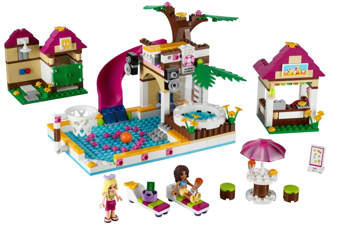 lego friends heartlake city pool byrnes online. Black Bedroom Furniture Sets. Home Design Ideas