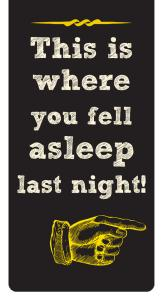 bookmark -this is where you fell asleep