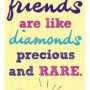 Magnetic Bookmark - True friends are like diamonds