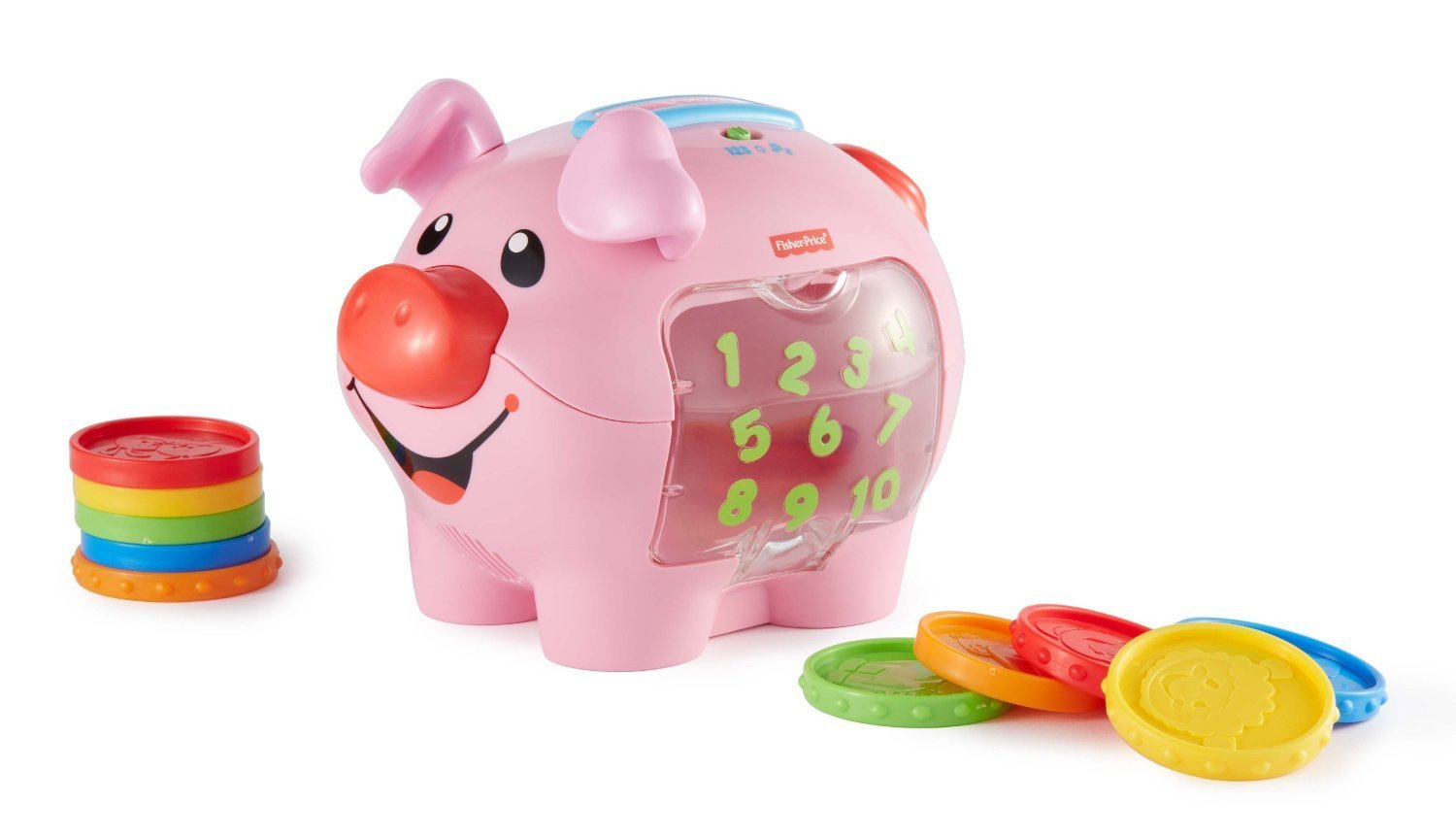 Fisher price laugh learn learning piggy bank byrnes for How to make a piggy bank you can t open