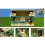 wooden horse stable 2 seprate boxs
