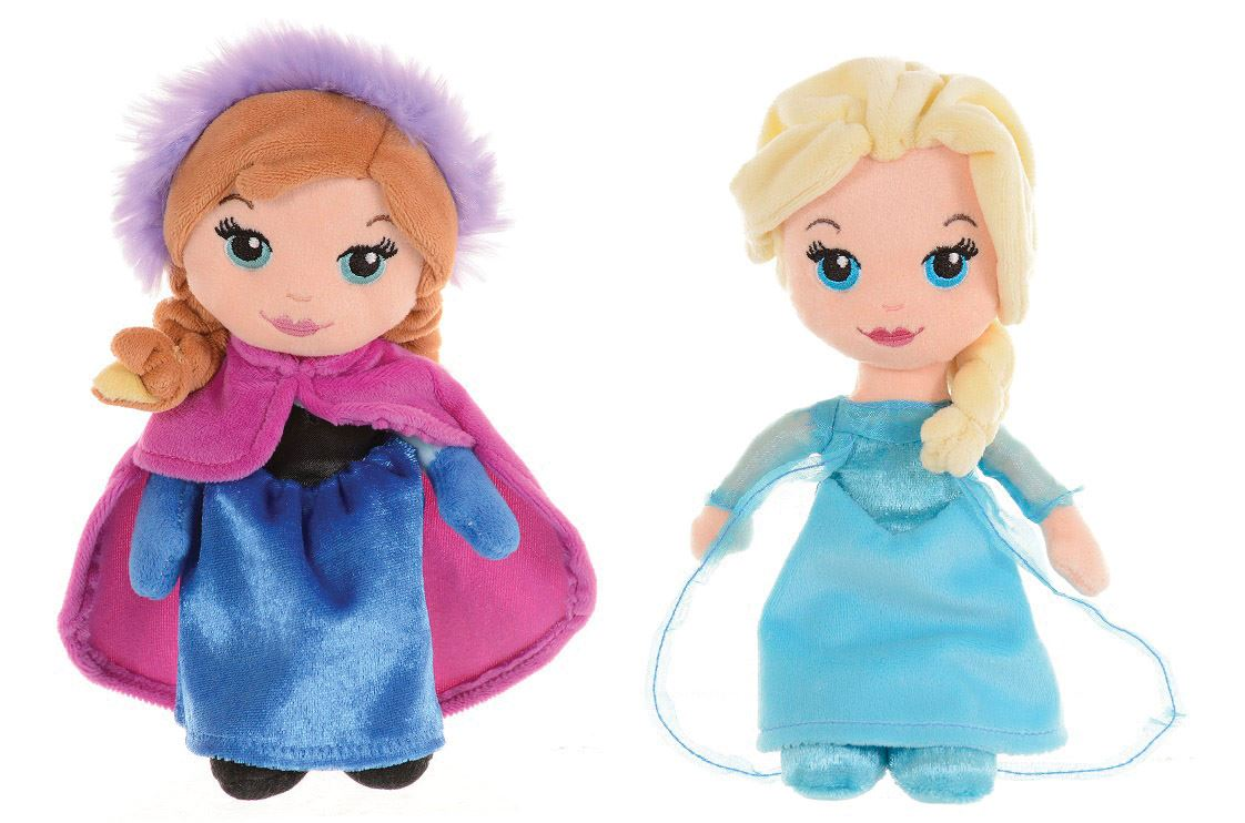 small cute elsa amp anna plush dolls   byrnes online