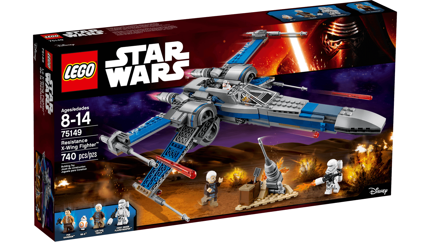 Lego Star Wars - Resistance X-Wing Fighter - Byrnes Online