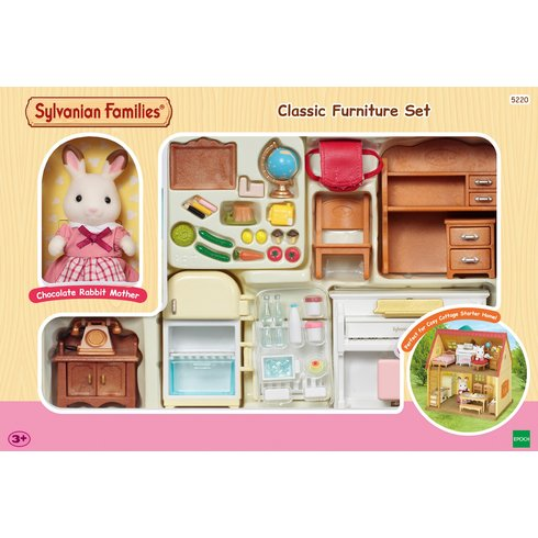 Sylvanian families classic furniture set cosy cottage for Sylvanian classic furniture set