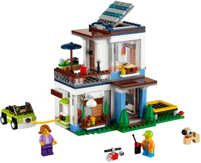 Lego creator modular modern home byrnes online for Home creator online