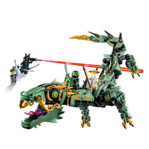 The lego ninjago movie green ninja mech dragon byrnes online - Lego ninjago dragon a 4 tetes ...
