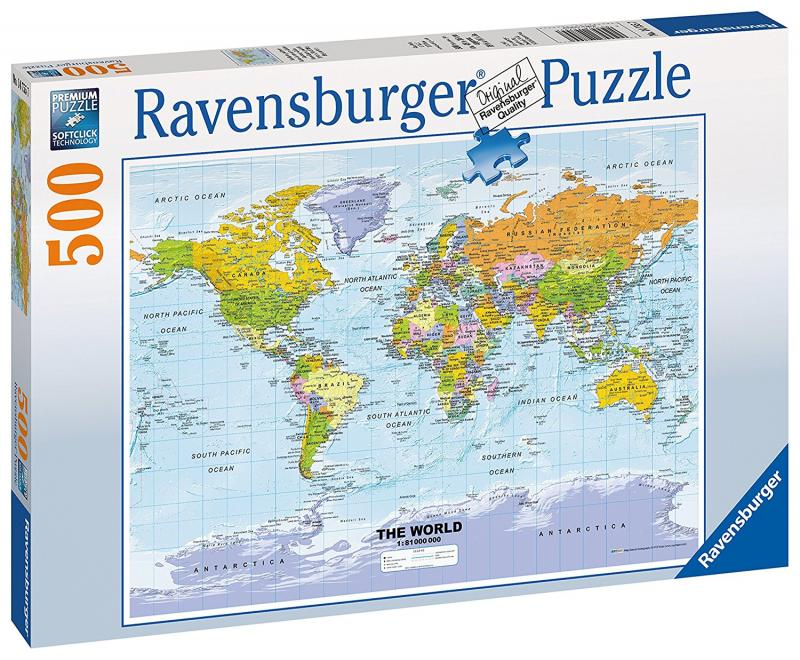 Political Map of the World Jigsaw - Byrnes Online