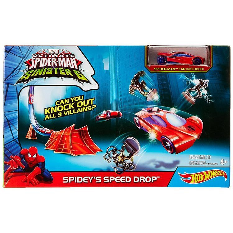 marvel hot wheels spiderman
