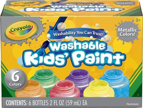 crayola 6pk washable metallic paints